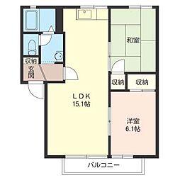 ハウス パインカウンティー A[1階]の間取り