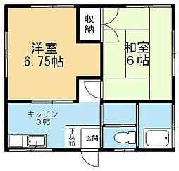 三吉荘B[101号室]の間取り