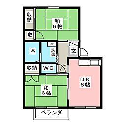 カーサ ツインクル II棟[1階]の間取り