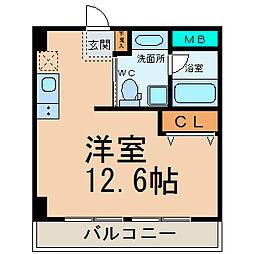 ラッフル新栄[4階]の間取り