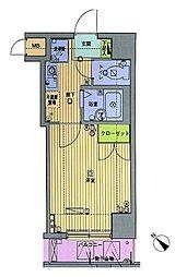 ガラ・ステージ日本橋人形町 3階1Kの間取り