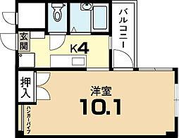 ラ・タミデンス[2階]の間取り