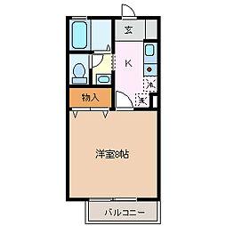 エクセルシオール[1階]の間取り