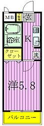 パシフィークII[2階]の間取り