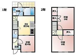 [テラスハウス] 兵庫県神戸市長田区海運町8丁目 の賃貸【/】の間取り