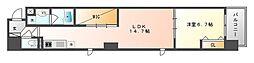 岡山電気軌道清輝橋線 大雲寺前駅 徒歩4分の賃貸マンション 7階1LDKの間取り
