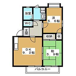 PASSYII[1階]の間取り