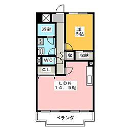 ハイデンスホンダ[9階]の間取り