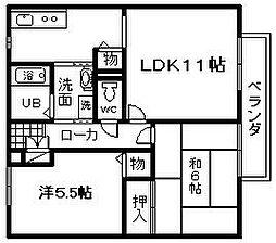 マノワールYAMAMOTO C棟[102号室]の間取り