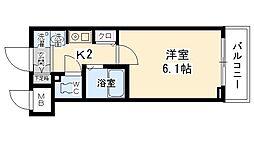 エステムコート京都烏丸2[702号室号室]の間取り