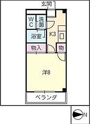 AZURE COURTE I[1階]の間取り