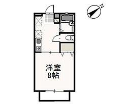 JR津山線 備前原駅 徒歩14分の賃貸アパート 2階1Kの間取り