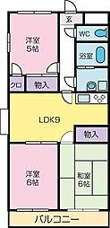フレグランス940 4階2LDKの間取り