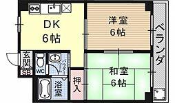 第16洛西ハイツ瀬田[215号室号室]の間取り