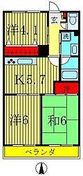 ビッグベアー7[3階]の間取り