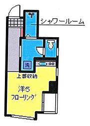 OYO LIFE YHA048 ミカローズ 3階ワンルームの間取り