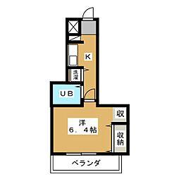 アルテハイム二条城[4階]の間取り
