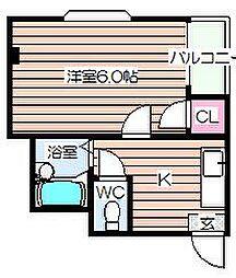 大阪府大阪市北区長柄西1丁目の賃貸マンションの間取り