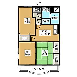 サンライズ田宗II[2階]の間取り