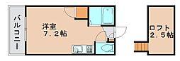 リバービュー原田[2階]の間取り