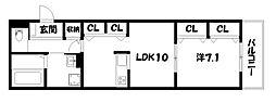 (仮称)壬生松原町M計画[3階]の間取り