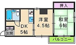 ドムール大倉[5階]の間取り