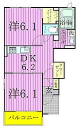 アニメート欅III[1階]の間取り