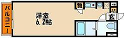 カーサ王塚台[4階]の間取り