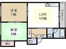 第3向和マンション[1階]の間取り