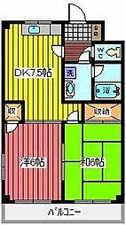 サンライズ(西青木)[2階]の間取り
