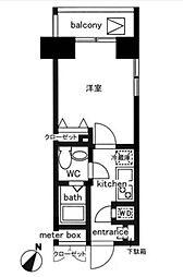 レジディア日本橋人形町II[1403号室]の間取り