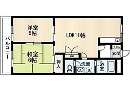 福岡県福岡市東区香住ケ丘5丁目の賃貸アパートの間取り