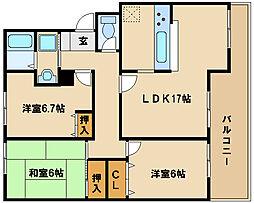 兵庫県神戸市西区竹の台2丁目の賃貸アパートの間取り