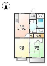 コーポグリーン[4階]の間取り