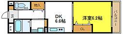 クレールエスプワール 1階1DKの間取り