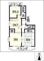 エクレール城並[1階]の間取り