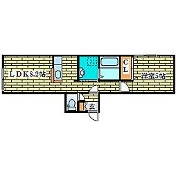 ルミエ−ルサガノII[2階]の間取り