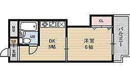 シティコート新大阪[6階]の間取り