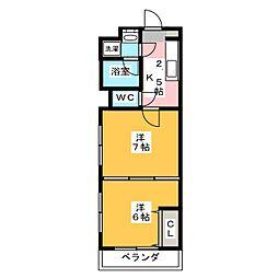 アンクル丹波口[3階]の間取り