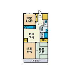スカイヒル山崎[2階]の間取り