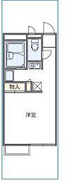 大阪府大阪市生野区巽西2丁目の賃貸アパートの間取り