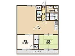 ルミエール深阪[3階]の間取り