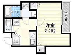 都営浅草線 押上駅 徒歩8分の賃貸マンション 4階1Kの間取り