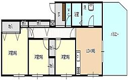 カバヤハウス[401号室号室]の間取り