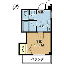 福山ハイツ[3階]の間取り
