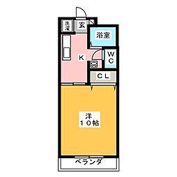 ストリームフジ[2階]の間取り