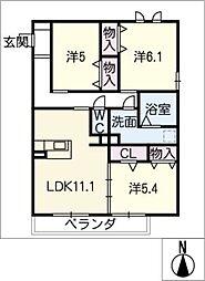 La Bellezza B棟[2階]の間取り