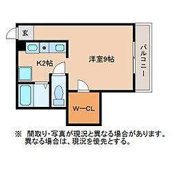 静岡県静岡市葵区羽鳥の賃貸アパートの間取り