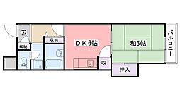 武庫川32号(UR)[1015号室]の間取り