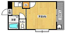 京都府京都市伏見区桃山水野左近東町の賃貸マンションの間取り